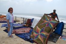 The best place to buy batik tablecloth is the beach