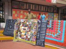 This guy specializes in quilt, and he's based in Osogbo
